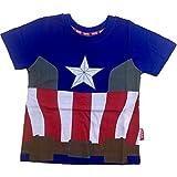 Maglietta Marvel Avengers Spiderman Capitan America PS 06362-3 Anni-Capitan America