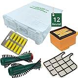 12 Staubsaugerbeutel Filtertüten Filter Bürsten Duft passend für Vorwerk Kobold VK 135 mit EB 351