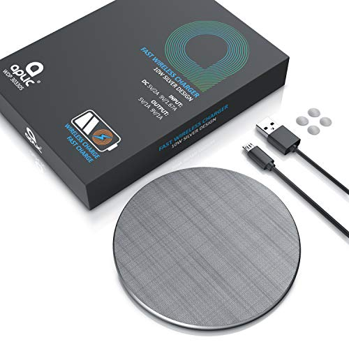 CSL - 10 Watt Induktionsladegerät - Fast Wireless Charger - Kabelloses Ladegerät - Kompatibel mit iPhone XS Max XR XS X 8 Plus 10W Schnellladungen Samsung Galaxy S9 S8 UVM