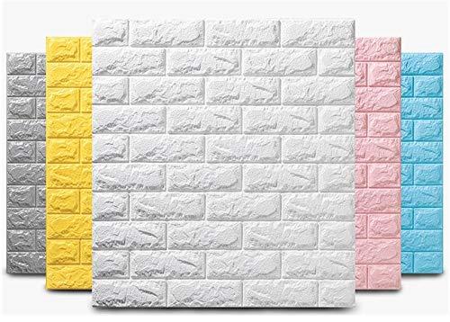 10 pegatinas de pared 3D de imitación de ladrillo para decoración de dormitorio, impermeable, autoadhesivas, para sala de estar,...