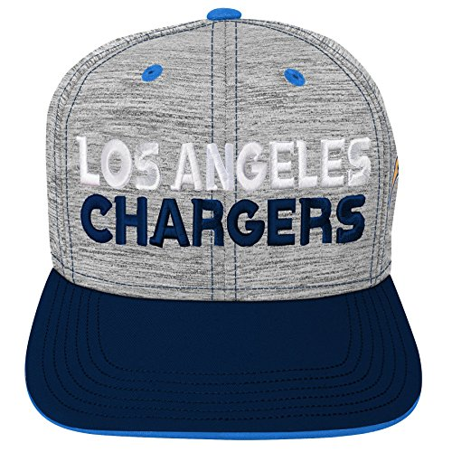 NFL by Outerstuff NFL San Diego Chargers Youth Boys Space Dye Snapback Hat Heather Grey, Youth One Size