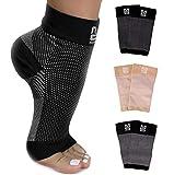 Modetro Sports Kompressionsstrümpfe für Damen u. Herren – Kompressionssocken ohne Zehen – Entlastende Fußbandage – Größe 36-47 – Schwarz – 2 Paar