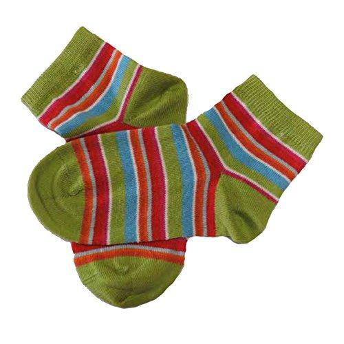 GRÖDO Kinder Söckchen 8-farbig geringelt aus Bio-Baumwolle