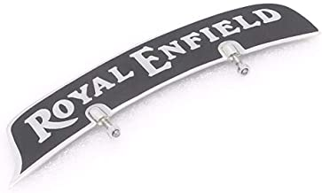 Royal Crusaders ROYAL ENFIELD FRONT MUDGUARD NUMBER PLATE BRASS CHROME