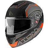 Mt Helmets Atom SV Quark A4 Matt Fluor Orange L