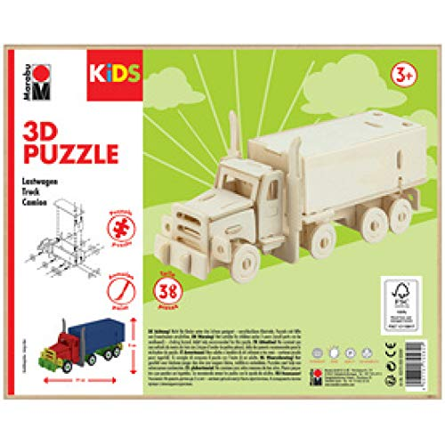 Marabu KiDS 3D Puzzle 'Truck/Lastwagen', 38 Teile