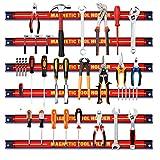Giantex 6X Magnetleiste Set, 46 cm Magnet Werkzeugleiste Werkzeughalter Werkzeug Halterung,...