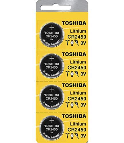 Toshiba CR2450 3 Volt Lithium-Knopfzelle (5 Batterien)