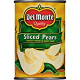 Del Monte Canned Sliced Pears in Heavy Syrup, 15.25 Ounce (Pack of 12)