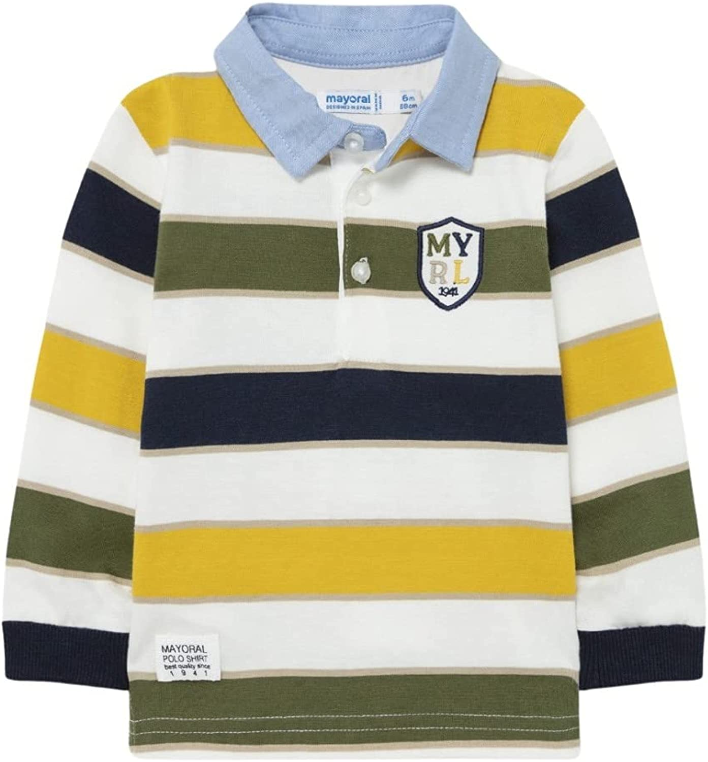 Mayoral - Superlatite Stripes Indianapolis Mall Polo for 2140 Gold Baby-Boys