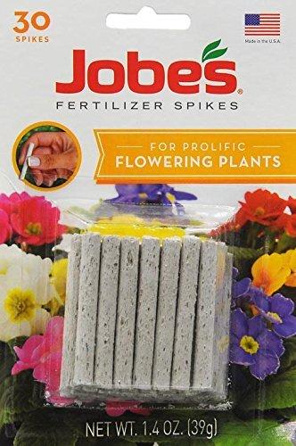 Jobe's Flower Indoor/Outdoor Plants Fertilizer Food Spikes - 30 Pack