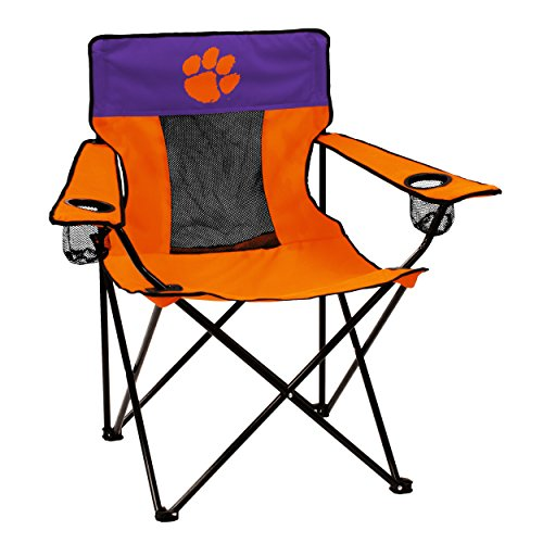 Logo Brands Officially Licensed NCAA Unisex Elite Chair, One Size,Clemson Tigers