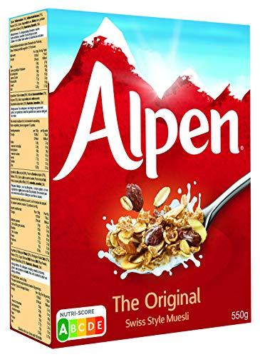 Alpen Müsli Original (1 x 550 g) – gesundes Frühstück im Schweizer Stil – Leckere Cerealien mit vielen Ballaststoffen und 100 % natürlichen Zutaten – Nutri-Score A