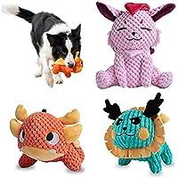 3-Pack Uniwiland Plush Squeaker Dog Toy