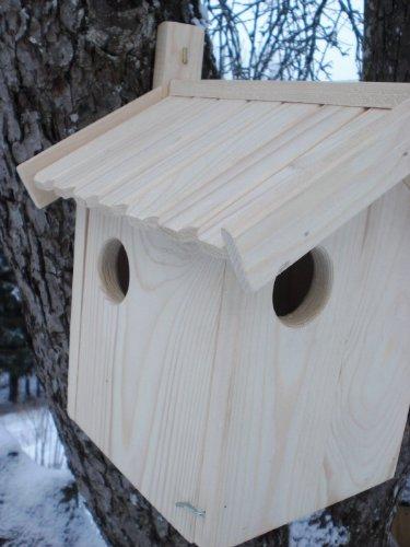 Eichhörnchen-Haus (Ei-Haus) -XXXL-Eichhörnchenhaus-Futterautomat-Futterhaus-Nistkasten-Kobel-Holzschindeldach-Vogelhaus