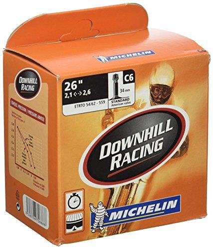 Michelin Downhill Racing BTT - Camara de Bicicleta 26x2.20-2.80 Standard Reforzada Valvula 35mm