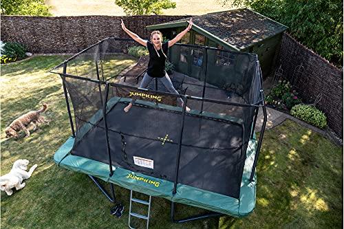 trampoline met net en ladder rechthoekig 518 x 366 cm groen (2016) (301130)