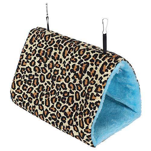 Nidos cálidos para Colgar para Mascotas, Materiales de Lana de Cordero, nidos para Colgar pájaros Suaves y Seguros para el Terciopelo, cómodos para Tiendas de(Leopard, Medium)