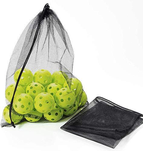 野球 バッティング 練習用 ボール 穴あきボール (50個入り 直径7cm) 専用メッシュバッグ付き トレーニングボール 軽い 室内練習 おもちゃ 野球ボール