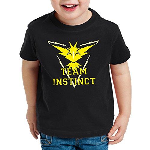 CottonCloud Team Instinct Kinder T-Shirt Gelb Instinkt, Farbe:Schwarz, Größe:140