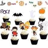 Set of 32 Halloween Cake Topper Haunted House Cake Topper Halloween...