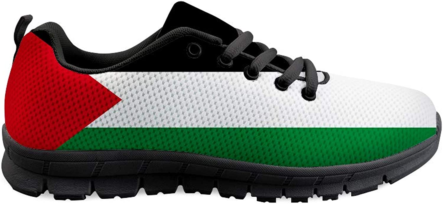 Owaheson Lace-up Sneaker Training shoes Mens Womens Palestine Flag