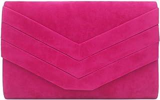 LVfenghe Evening Bag Fashion Clutch Bag Dinner Bag Girl Wild Shoulder Bag White Pink Size: 24.5 * 5 * 15cm (Color : Pink)