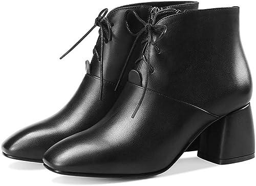 Shirloy(bottes) Sexy Sexy Chaussures en Cuir pour Enfants Bottes Glamour TempéraHommest Bottes pour Femmes Tête Carrée avec Talons  la qualité d'abord les consommateurs d'abord