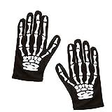 Amakando Knochen Hände Gerippe Kinder Skelett Handschuhe schwarz-weiß Zombie Skeletthände Halloween Skeletthandschuhe Kostüm Zubehör Grim Reaper Knochenhandschuhe Senesenmann