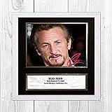 Engravia Digital Sean Penn Reproduktion Signatur Poster