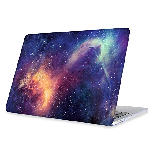 FINTIE Funda para MacBook Pro 13 (2019/2018/2017/2016) - Súper Delgada Carcasa Protectora de Plástico Duro para Modelo A1989/A1706/A1708/A2159, Galaxia