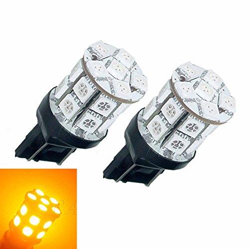 PA Lot de 2 ampoules LED SMD/SMT 7443 T20 20 5050 à 3 puces SMD/SMT pour feu arrière 12 V CC