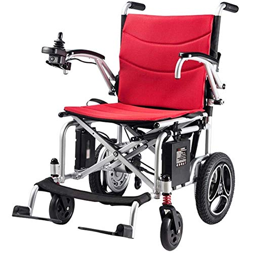 Ayanx Electric Powered Wheelchair Folding Lightweight 16kg, Seat Width 42cm Removable Mobility Chair Motorized Adjustable Wheelchairs