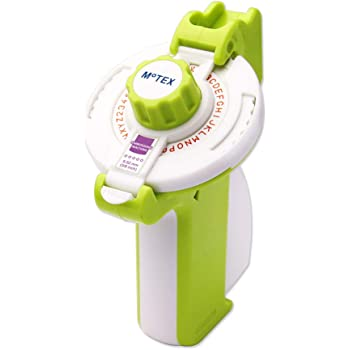 MoTEX Embossing Label Maker, Label Writer -E-202 (Lime)