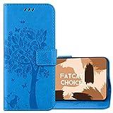 FatcatChoice Coque pour Sony Xperia Z3 Mini,Motif de gaufrage Housse Case Flip Cover Étui de...