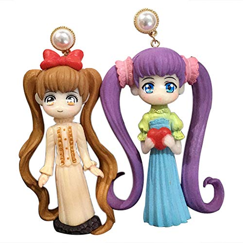 Ailin Online Sailor Moon PVC-Ohrstecker, niedlich, Cartoon-Motiv, Cosplay-Ohrringe, für Frauen und Mädchen Gr. Einheitsgröße, Style 03