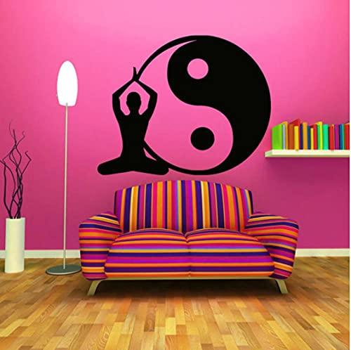 ZYkang Meditazione Yin Yang Wall Sticker Camera da Letto Hindu Yoga Studio Interior Design Decor...