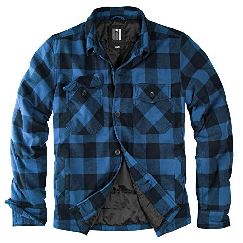 Lumberjacket Rocky schwarz/blau - M