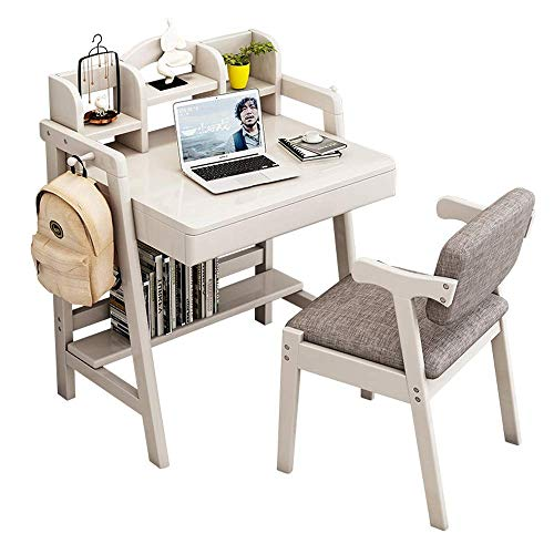 NBVCX Furniture Decoration Kid Furniture Set Wooden Learning Desk Child's Bedroom Student Table Great Gift for Girls and Boys –Best for 6 7 and 8 Year Olds(No Chair) (Color : Beige Size : 60X80X75C
