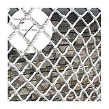 SILOLA White Children Stair Safe Netze White Rope Net Konstruktion Safe Net Outdoor Gartenschutznetz Hängematte Swing Kletternetz Rope Cargo Cover Multi-Size