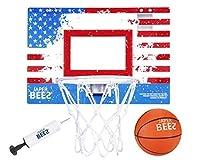 JAPER BEES Pro Mini Basketball Hoop Over The Door & Wall Mount Indoor Basketball Hoop w/Shatterproof Backboard [並行輸入品]