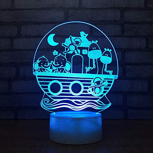 LLZGPZXYD 3D LED creatieve Visual Little Deer Elephant USB tafellamp decor light fixture planken voor kinderen Cartoon Night Light Remote And Touch