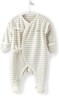 COBROO 100% Cotton Newborn Sleeper Baby Footed Pajamas with Mittens Newborn PJs Unisex Pink 2 Pack