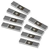 AODOOR GT2 Fijador de correa de distribución, GT2 dentada pieza de fijación de correa dentada, Bloque de montaje de paso de dientes de aleación de aluminio, abrazaderas de correa para impresora 3D