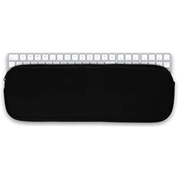 White//Black kwmobile Neoprene Pouch Compatible with Apple Magic Keyboard with Numeric Keypad Dont Touch My Keyboard Dust Cover with Zip