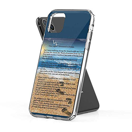 Roadiress Footprints in The Sand Compatible con iPhone 12/12Pro MAX 12 Mini 11 Pro MAX XR XS/XsMax SE 2020 7 8 6/6s Plus Samsung Series Funda Protectora