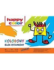 Blok rysunkowy kolorowy A4, 80g, 15 arkuszy 20 sztuk