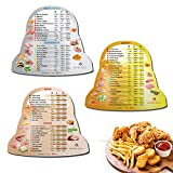 Air Fryer Magnetic Cheat Sheet Set, Instapot Air Fryer Lid Accessories Cooking Times Chart, Instant Pot Frying Quick Reference Guide Magnets (Metallic)