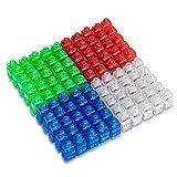 LITSPOT LED Luces de dedo, 100 piezas Lámpara de dedo Favor de fiesta Anillo de dedo Anillos iluminados súper brillantes Linterna de dedo para juguetes Cumpleaños Suministros para fiestas