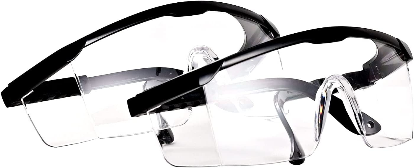 online shop PACIFIC PPE 2 Pack Safety Glasses Clear Bargain Wrapa Anti-fog Goggle